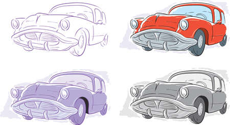 Classic Car Stock Vector - 23856343