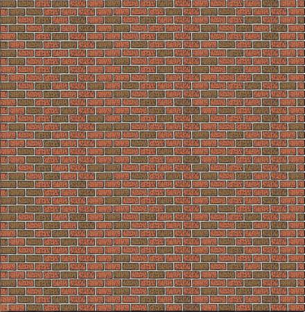 brick and mortar: Cartoon Brick Wall  Illustration
