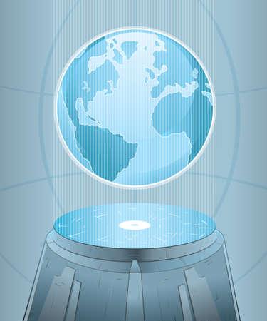 hologram: Earth computer