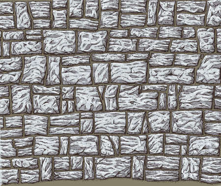 textured wall: Stone Wall Illustration