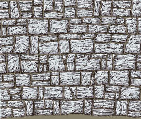 stone wall: Stone Wall Illustration