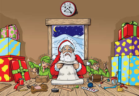 elves: Hectic Workshop  Illustration