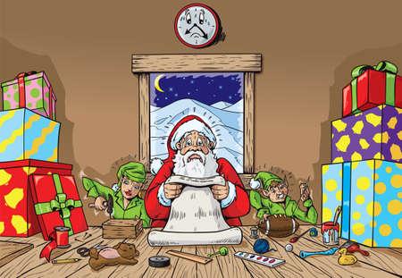 elfos navideÑos: Taller agitado