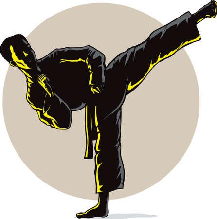 Super Sidekick in shadow  イラスト・ベクター素材