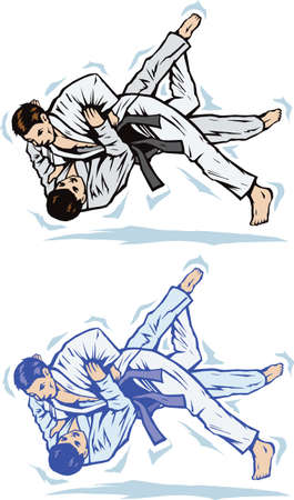 Judo trip Vector