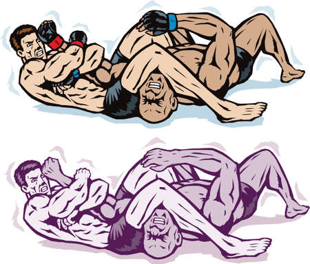 jiu jitsu: Jiu jitsu Arm bar Illustration