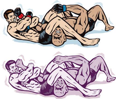 submission: Jiu jitsu Arm bar Illustration