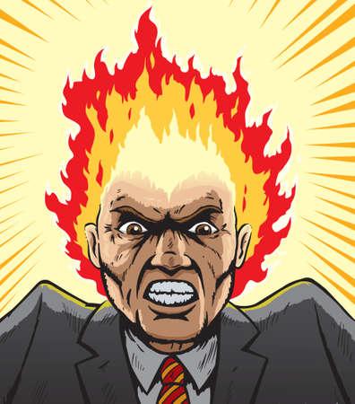 jefe enojado: Exaltado