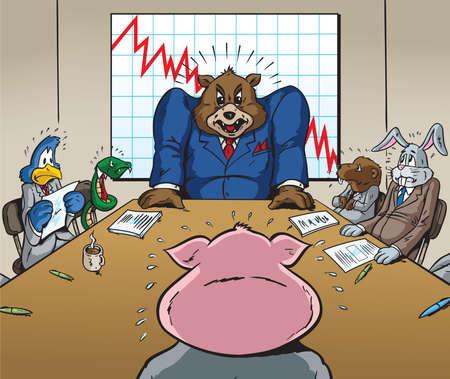 downsizing: Business meeting Illustration