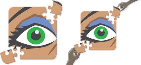 Eye puzzle 向量圖像