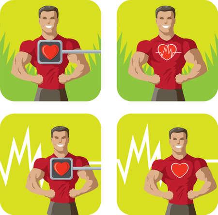 heart disease: Healthy heart icon