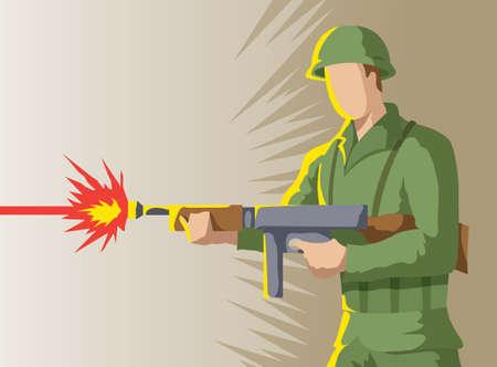 Soldier Icon Ilustração