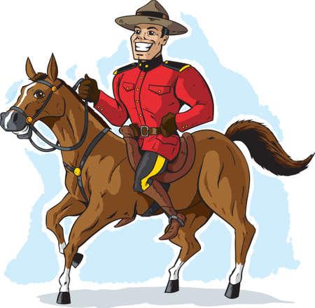 Mountie on horse