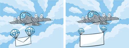 bombing: Bericht Plane Stock Illustratie