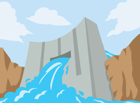 dam: Dam icon Illustration