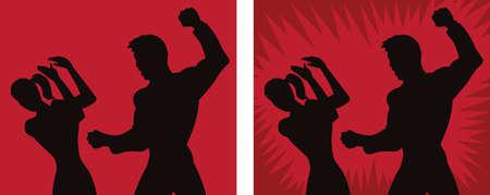 spousal: Spousal abuse icon Illustration