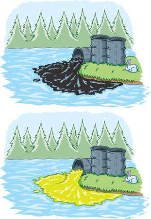 Toxic spill Vector