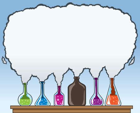 Química de humo Ilustración de vector