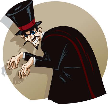 Evil magician Stock Vector - 25127529