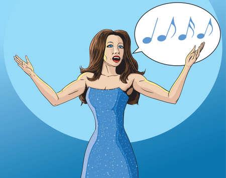 Mujer cantante Foto de archivo - 25147536