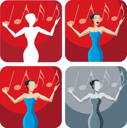 chanteur opéra: Icône d'un chanteur
