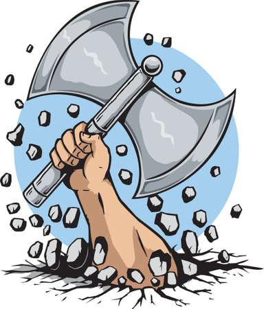 vikingo: La mano y el hacha