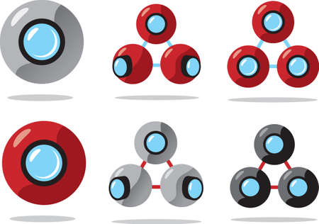 zooming: Ball Cameras Illustration