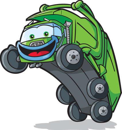 camion de basura: Cami�n Eliminaci�n feliz