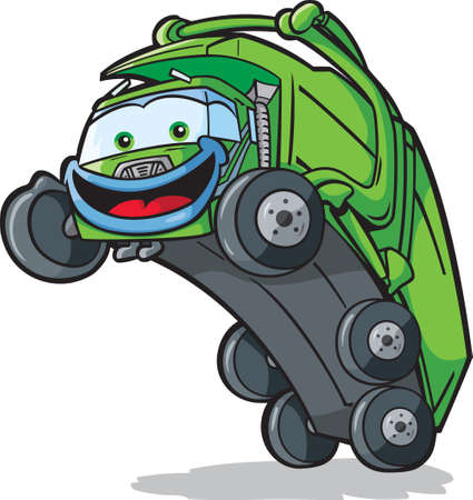 dump truck: Happy Disposal Truck