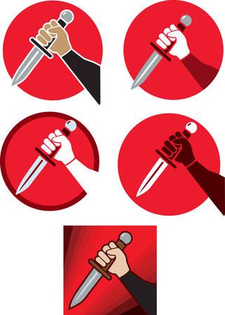 Knife hand icon Ilustracja