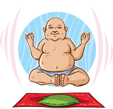 Floating Buddha Vector