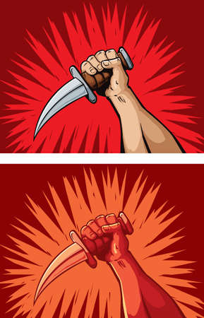 Hard knife hand
