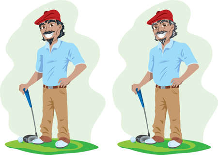 Old and young Golfer