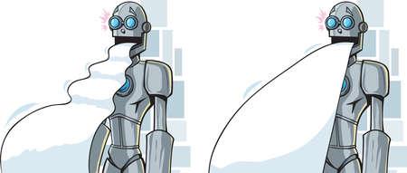 紙を噴出ロボット