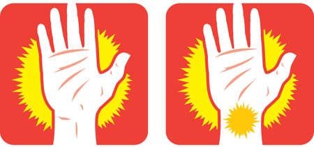 Hand pain Icon Vector