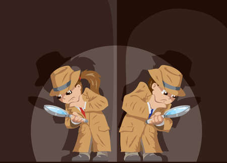 Kid Detectives Vector