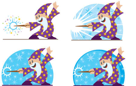star man: Cute little wizard  Illustration