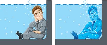 Man in Shallow water Çizim