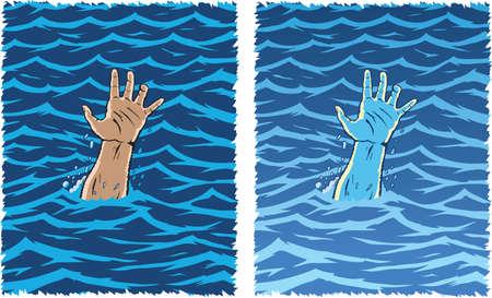 Drowning Hand Vettoriali