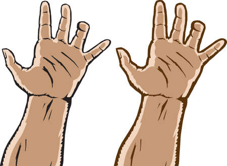 Two grasping hands Vector