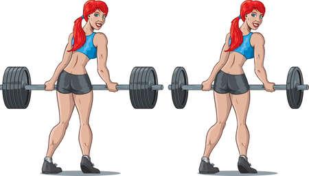 Weight girl Ilustração