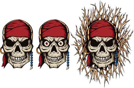 Evil Pirate Skull Vector
