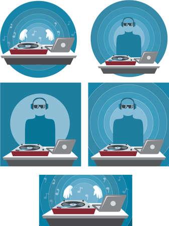 speakers desk: DJ Icon  Illustration