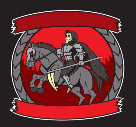Mort sur un cheval Banque d'images - 26472052