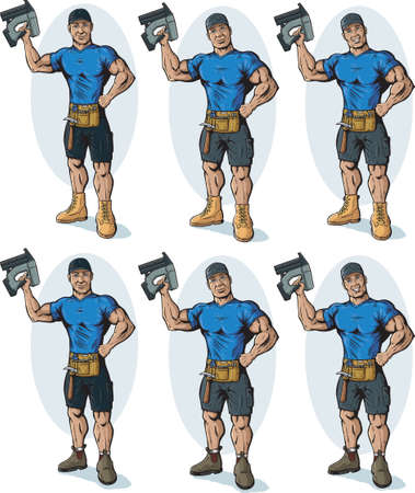 manly: Manly Construction worker Illustration
