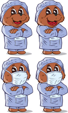 Surgeon Bear  Vector