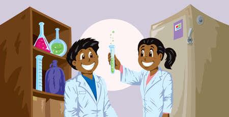 east indian: Cute Science kids