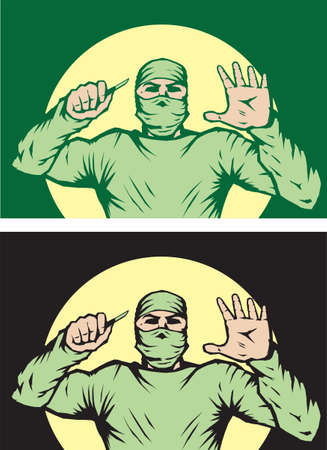 surgeon mask: Cirujano estilizada