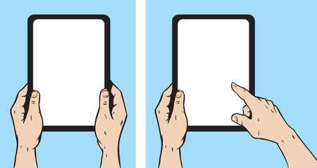Man met tablet Stock Illustratie