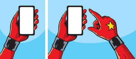 heldin met smartphone